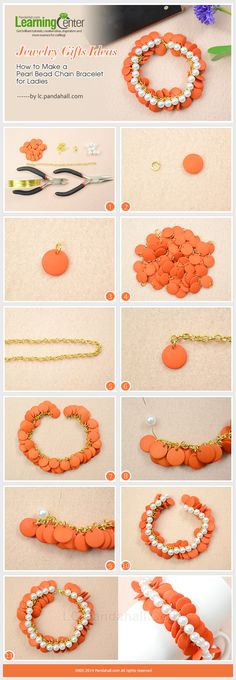 Jewelry Gifts Ideas-How to Make a Pearl Bead Chain Bracelet for Ladies