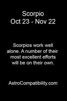 Scorpios work well..... | AstroCompatibility.com