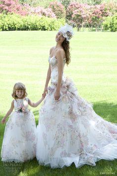romantic, beautiful! eme di eme bridal 2013 floral print wedding dress