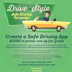 Your #app idea could #win you $2500 in prizes! #DriveInStyle #GoBillings