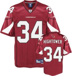 Arizona Cardinals #34 Tim Hightower Reebok NFL jersey in Red  ID:84734637  $20