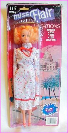Vintage MISS FLAIR Fashion Doll TOTSY Hong Kong BARBIE CLONE MOC VACATION Series