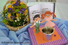 Jack and Jill centerpiece