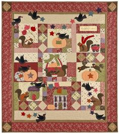 """Baltimore Bunnies - 13 Pattern Set: This incredible appliqued 64"""" x 79"""" quilt called Baltimore Bunnies was designed by Anne Sutton. Description from pinterest.com. I searched for this on bing.com/images"""