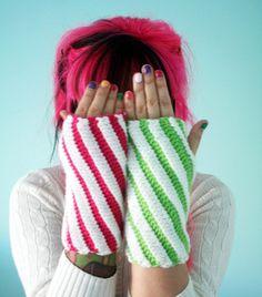 Candy Stick Wrist Warmers Mix n Match Watermelon by TwinkieChan
