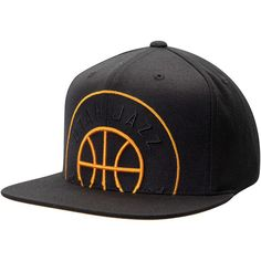 best website 68c8f 17d47 Men s Utah Jazz Mitchell  amp  Ness Black Cropped XL Adjustable Snapback Hat,  Your