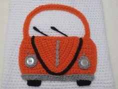 Volkswagen bug beetle car applique motif crochet by Millionbells