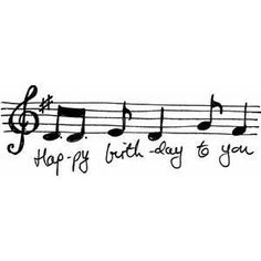 Happy Birthday Music Notes
