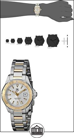 TAG Heuer Aquaracer dos tonos reloj de pulsera para mujer WAY1455. BD0922  ✿ Relojes para mujer - (Lujo) ✿