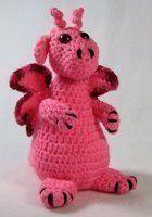 Amigurumi Pinky the Dragon  - Free Pattern