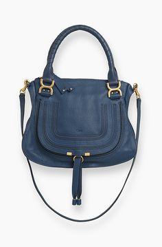 Chloe Marcie bag in royal navy grained calfskin Handbags Online, Handbags On Sale, Purses And Handbags, Ladies Handbags, Chloe Marcie Bag, Chloe Bag, Crea Cuir, Versace, See By Chloé