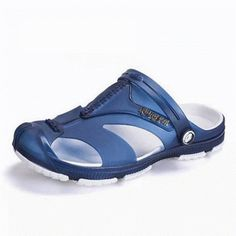 a4745d07ed00 Men Anti-collision Toe Hollow Out Breathable Slip On Casual Beach Shoes is  comfortable to wear