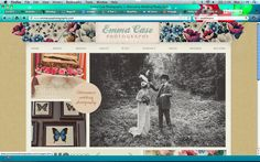 http://www.emmacasephotography.com/    This is the only wedding photography website I've seen that I genuinely like. I like the pretty header (although those kind of flower illustrations are a bit girly for me). I like that the first thing you see are the photos. I like that everything underneath is separated into lots of little sections, but somehow it isn't cluttered or hard to navigate. The website also properly represents her photographic style.