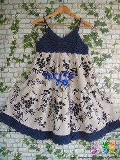 Kumaşla Örgü Kız Çocuk Elbise Modelleri ve Yapılışı 90 - Mimuu.com