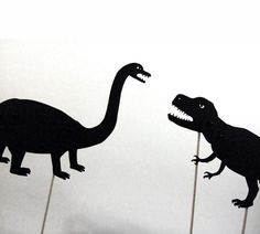Dino Shadow Puppets? I want to make these they're adorable.