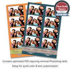 vintage floral photo booth templates strips
