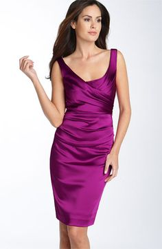 Ivy & Blu Ruched Stretch Satin Sheath Dress | Nordstrom  a bridesmaid's dress that isn't just for bride's maids