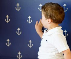 Anchor wallpaper by Sarah Jane for Pop and Lolli