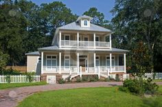 coastal craftsman style homes | Coastal Home stock photo, Recently constructed victorian style home ...