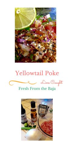 : Yellowtail poke, a little bit Hawaiian and a little bit of Baja. Use the sauce with ahi, yellowfin and salmon. Mexican Fish Recipes, Mexican Appetizers, Quick Appetizers, Seafood Appetizers, Sushi Recipes, Seafood Dishes, Seafood Recipes, Red Snapper Recipes