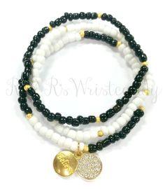 Believe Beaded Bracelet Set Minimalist by RandRsWristCandy on Etsy