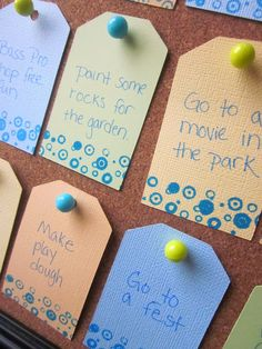 """Have Guests create a """"retirement"""" bucket list and later put cards into album"""