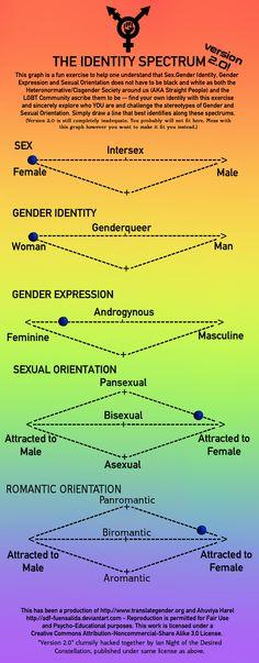 Gender-Sexuality Spectrum Meme by xMissMichix Gender Spectrum, Life Cheats, Male Gender, T Power, Gender Binary, Trans Gender, Attitude Is Everything, Genderqueer, Lgbt Community