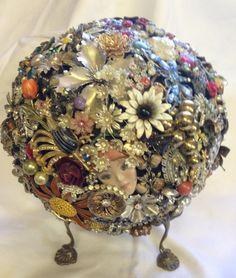 Vintage Rhinestone Embellished Bowling Ball