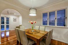 Thea & Sami Fretwork Lampshade in Queenslander dining room