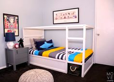 Kura bett gepimpt ikea hack love it nursery pinterest for Lichterkette kinderzimmer junge
