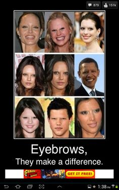 Eyebrows make a difference