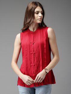 Buy Moda Rapido Women Red Solid Top -  - Apparel for Women from Moda Rapido at Rs. 629