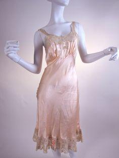 #Vintage 1930's Fischer Bias-Cut Pure Silk Slip