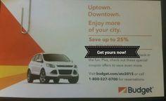 BUDGET RENTAL CAR Discount COMBO COUPONS