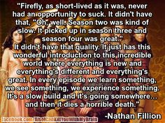 Nathan on Firefly