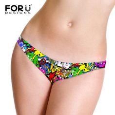 Fashion Ladies G-Sting Women Sexy Seamless Underwear Women T Panties G String Women's Briefs Graffiti Thongs for Women