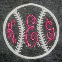 ADULT Baseball Monogram Tee Shirt by ChickenTattoo on Etsy, $20.00