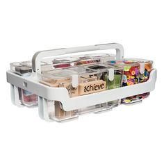 Deflecto+-+Caddy+Organizer+with+Small+Medium+and+Large+Compartments+-+White+at+Scrapbook.com