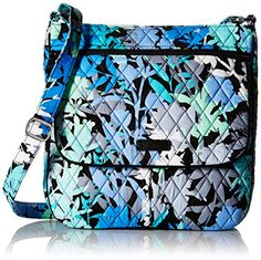 Vera Bradley Double Zip Mailbag Cross Body Bag, Camo Floral, One Size