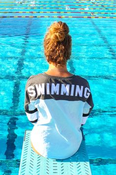 Our bestselling jersey with a lace-up front and swimming appliqué on back. Super comfy and perfect for pairing with teammates. A cute gift for any swimmer!