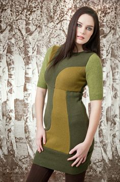 Stella Dress - reclaimed vintage/ucycled sweaters