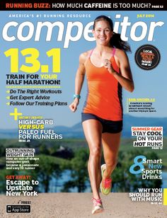 Kara Goucher wearing Soleus on the front cover of Competitor Magazine.