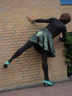 Looking around wall Black Opaque Tights, Green Shoes, Men Dress, Ballet Skirt, Wall, Skirts, Dresses, Fashion, Vestidos