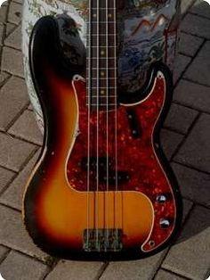 Fender Precision Bass 1966 Sunburst Vintage Bass Guitar