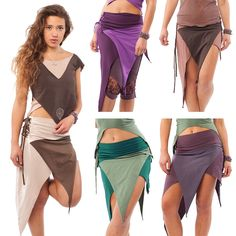 ORGANIC COTTON TRANCE PIXIE SKIRT festival boho psy rave 8 10 12 14 16 in Clothes, Shoes & Accessories, Women's Clothing, Skirts | eBay