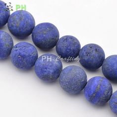 "Frosted Natural Lapis Lazuli Round Bead Strands, 10mm, Hole: 1mm; about 37~39pcs/strand, 14.9~15.6""-in Beads from Jewelry on Aliexpress.com 