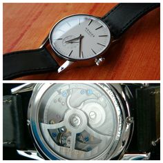 Nomos Zurich Datum. This is one of the best values in modern day watchmaking. In-house movement, automatic, won multiple awards and great detailing. Just look at the movement. Beautiful.