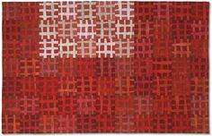 Net 8 by Ruth Garrison - 39 x 61 inches    Hand dyeing, machine piecing, machine quilting
