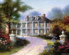 """The White Estate"" by Thomas Kinkade 4/4/14"