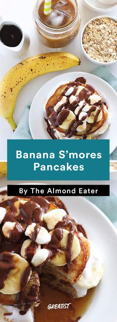 1. Banana S'mores Pancakes http://greatist.com/eat/smores-recipes-to-make-indoors